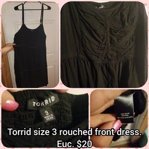 Torrid size 3 rouched front dress